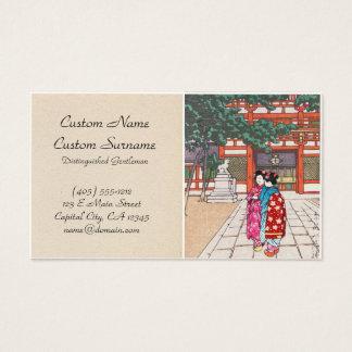 Shinto och dess arkitektur, Yasaka relikskrin Visitkort