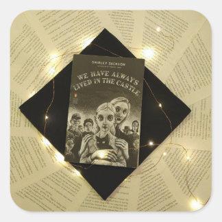 Shirley Jackson bokomslagklistermärke Fyrkantigt Klistermärke