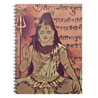 Shiva sittamörk anteckningsbok med spiral