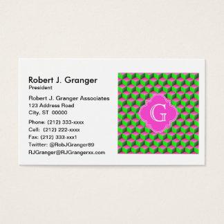 Shock rosa limefrukt grön 3D skära i tärningar den Visitkort