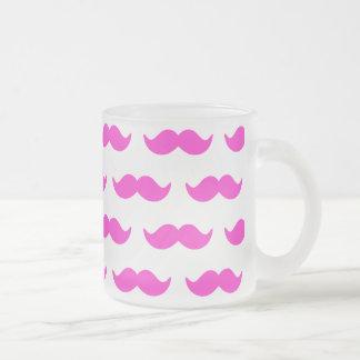 Shock rosa- och vitmustaschmönster 1 kaffe kopp