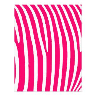 Shock rosa- och vitzebra tryck brevhuvud