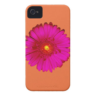 Shock rosaGerberadaisy på orangen Case-Mate iPhone 4 Skal