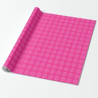 Shock rosavolleybollmönster som slår in papper presentpapper