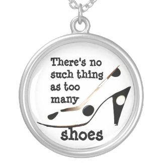 Shopaholic skor fläkten silverpläterat halsband