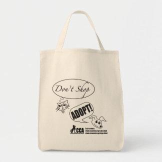 Shoppa inte, adoptera! Shopping bag Tygkasse