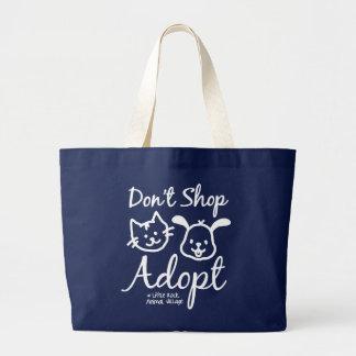"""""""Shoppa inte, adoptera"""" totot hänger lös Jumbo Tygkasse"""