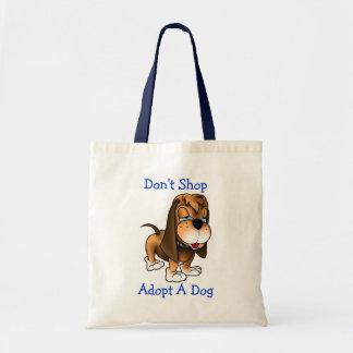 Shoppa inte adopterar en hund för valp för tygkasse