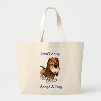 Shoppa inte adopterar en hundhundjumbo som totot h jumbo tygkasse