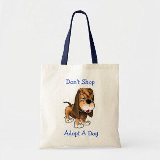 Shoppa inte adopterar en toto för hundhundbudget h budget tygkasse