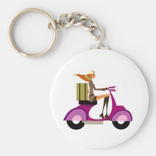 Shoppa med sparkcykeln nyckelring