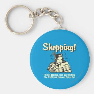 Shoppa: Mig inte-missbrukad förmiddag Rund Nyckelring