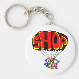 shoppa rund nyckelring