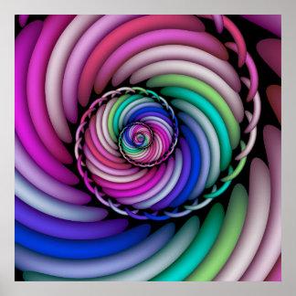 Shoppar den spiral godisen för fractalen poster