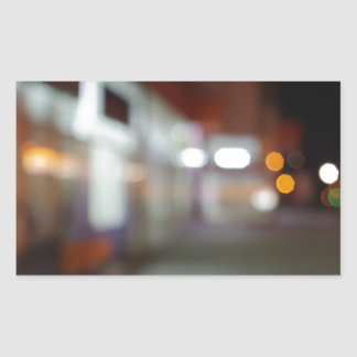 Shoppar den stads- platsen för natten med diffus rektangulärt klistermärke