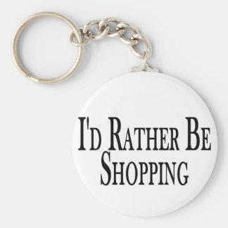 Shoppar ganska rund nyckelring