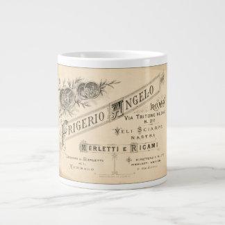 Shoppar italienskt snöre för vintage annonseringen jumbo mugg