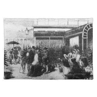 Shoppare som väljer julgranar, December Bordstablett