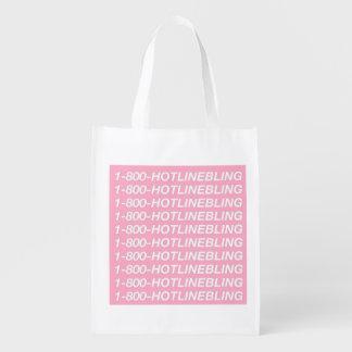 shopparen 1-800-HOTLINEBLING hänger lös Återvinningsbar Matkasse