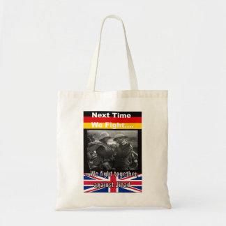 Shopping bag med brittiska och för tysk WWI Budget Tygkasse