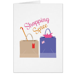Shoppingfest Hälsningskort