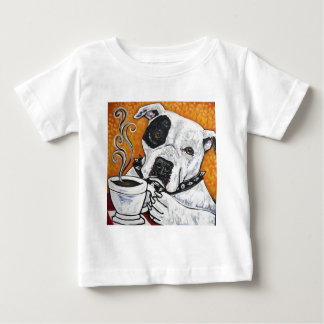 Shorty Rossis pitbull MUSSOLINI som dricker kaffe T Shirt