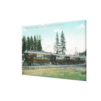 Shoshonereklambladtåg av till Spokane Canvastryck