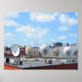 Show för kommunikation för kabel för antenn för poster