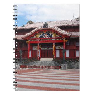 Shuri slott i Okinawa, Japan Anteckningsbok Med Spiral