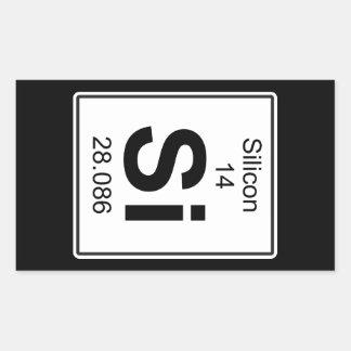 Si - Silikoner Rektangulärt Klistermärke
