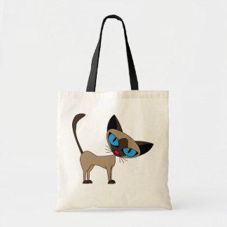 Siamese katt för Siamese, om du behar - tecknad Tygkasse