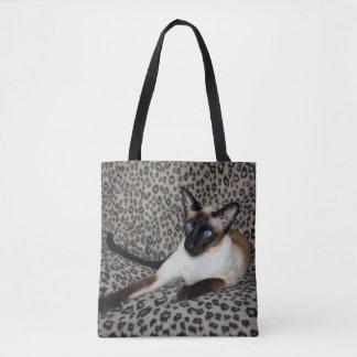 Siamese katt med fläckar för djur för tygkasse