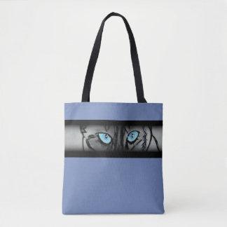 Siamese kattögon i blått tygkasse