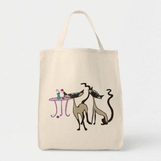 Siamese kattshopping bag tygkasse