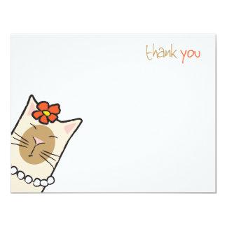 Siamese kort för tackkort för lägenhet för 10,8 x 14 cm inbjudningskort
