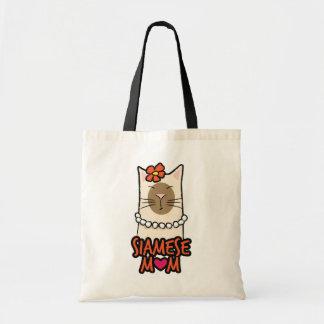 Siamese mamma-/morsakattälskaretote bags tygkasse