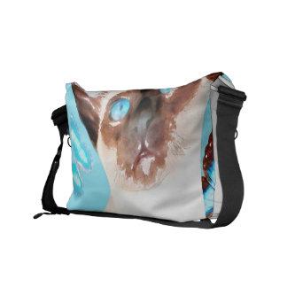 Siamese och fjärilar kurir väska
