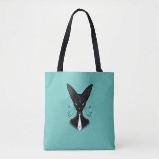 Siamese svart kattPunk Tygkasse