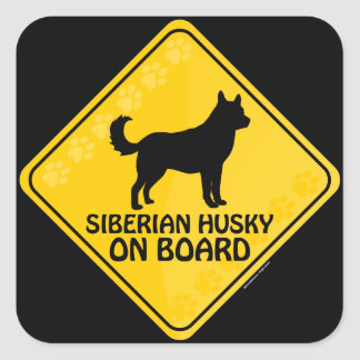 Siberian husky Xing Fyrkantigt Klistermärke