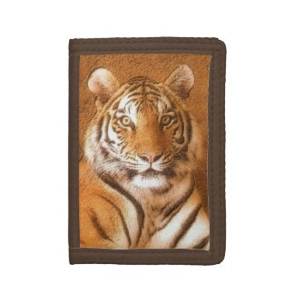 Siberian plånbok för nylon för tigerporträttbrunt