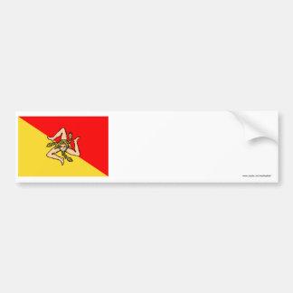 Sicilia flagga bildekal
