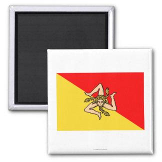 Sicilia flagga magnet