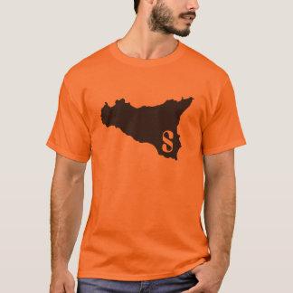 Sicilia orange och svart t shirts