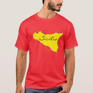 Sicilia skisserar T-tröja T-shirt