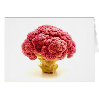 Sicilian purpurfärgad broccoli hälsningskort