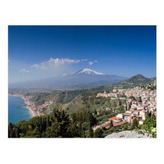 Sicily - Taormina framme av den Etna vykortet Vykort