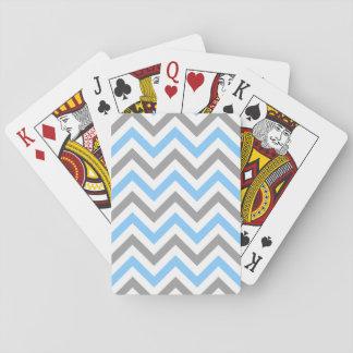 Sicksack för sparre för himmelblåttDk grå vit LG Spelkort