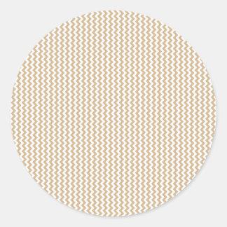 Sicksack - vit och solbränna runt klistermärke