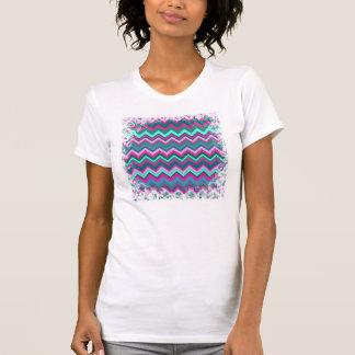 Sicksackar för sparre för nätt Aquakrickablått Tee Shirt