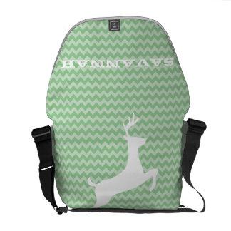 Sicksackmönster väljer du gullig hjort för färger kurir väskor